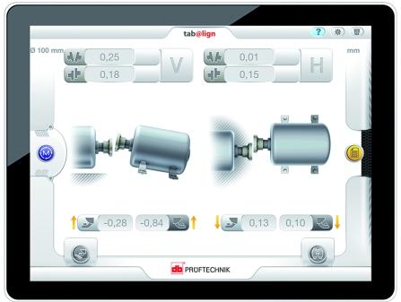 Tab@lign permite mostrar la monitorización de la máquina de forma concisa en dispositivos móviles como tablets